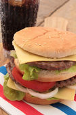 Buger and cola — Stock Photo