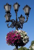 Street lantern in historical center of Lvov, Ukraine — Stockfoto