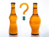 To Drink beer fattening or slimming? — Stock Photo