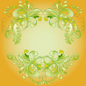 Abstract yellow frame — Stock Vector