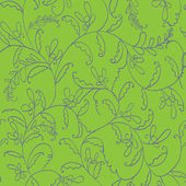 Green seamles floral pattern — Stok Vektör