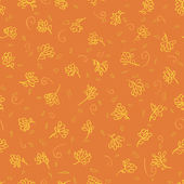 Orange floral seamless — Vettoriale Stock