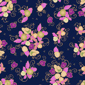Seamless rose textile pattern — ストックベクタ