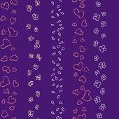 Hearts, flowers and butterflies seamless pattern — Stockvektor
