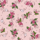 Róża różowy wzór — Wektor stockowy