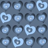 Glowing hearts backgorund — Stock vektor