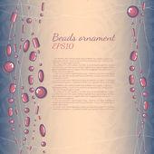Vintage jewellery background — Stock Vector
