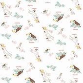 Parrots. print — Stock Vector