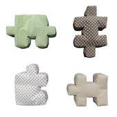 3D textile puzzles — Stock Photo