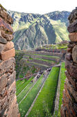 Ollantaytambo, old Inca fortress in the Sacred Valley in the And — Stock Photo