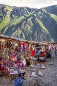 OLLANTAYTAMBO, PERU - DECEMBER 09: Old Inca fortress and market  — Stock Photo