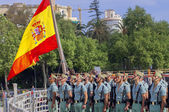 MALAGA, SPAIN - APRIL 09: Spanish Legionarios march on a militar — Stock fotografie