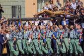 MALAGA, SPAIN - APRIL 09: Spanish Legionarios march on a militar — Zdjęcie stockowe
