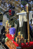 MALAGA, SPAIN - APRIL 09: traditional processions of Holy Week i — Stockfoto