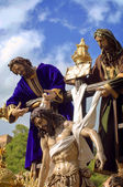 MALAGA, SPAIN - APRIL 09: traditional processions of Holy Week i — Stock Photo