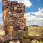 Постер, плакат: Sillustani pre Incan burial ground tombs on the shores of La