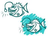 A ilustração de um monstro do mar dos desenhos animados. — Fotografia Stock