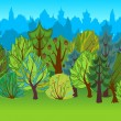The illustration of cartoon forest. — Stock Photo #48959435