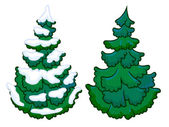 The cartoon illustration of a spruce tree — Stock Photo