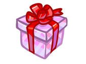 The illustration of a pink present box. — Foto Stock