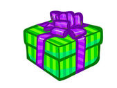 The illustration of a green present box. — Foto Stock