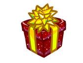 The illustration of a red present box. — ストック写真