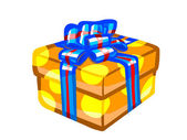 The illustration of an orange present box. — Foto Stock