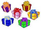 La ilustración de las actuales cajas coloridas. — Foto de Stock