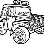 Cartoon jeep. Border — Stock Vector #50106389