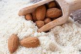 Almond flour — Stock Photo