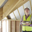 Building Inspector Looking At New Property — Stockfoto #49263099