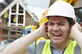 Construction Suffering From Noise Pollution On Building Site — Stock Photo