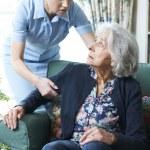 Care Worker Mistreating Senior Woman — Stock Photo #49270859
