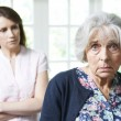 Serious Senior Woman With Worried Adult Daughter At Home — Stock Photo #49271183
