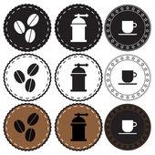 Cafetería retro placa — Vector de stock