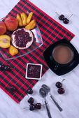 Breakfast with fruit  — Zdjęcie stockowe