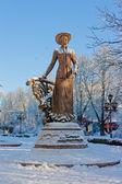 Salome Krushel'nyts'koi Monument in the center of Ternopil. Ukra — Stock Photo
