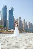 Bride At Beach — Stock Photo