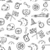 Seamless pattern racing element in a drawing style — Stockvektor