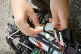 Repair the radio control car — Stock Photo