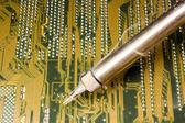 PCB solder — Stock Photo