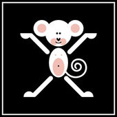 One of chinese zodiac signs - Monkey — Stockvector