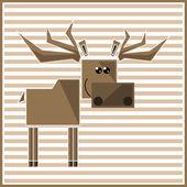 Abstract geometric elk — Stock Vector