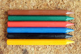 Colored wax pencils — Stock Photo