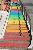 Kolorowe schody w Stambule — Zdjęcie stockowe