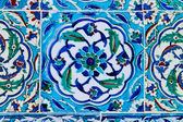 Handmade Traditional Turkish Blue Tile Wall — Stock fotografie