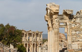 Temple of Hadrian and Library of Celsus in Ephesus, Turkey — Stock Photo
