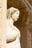 Sculpture in Library of Celsus, Ephesus, Turkey — Stock Photo