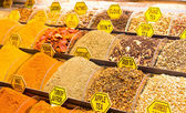 Teas and Spices in Spice Bazaar — Stock Photo
