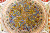 Interior view of a dome from Uc Serefeli Mosque courtyard, Edirn — Stockfoto